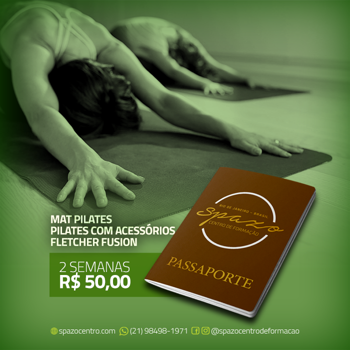 Passaporte Spazo – MAT Pilates / Pilates com Acessórios / Fletcher Fusion