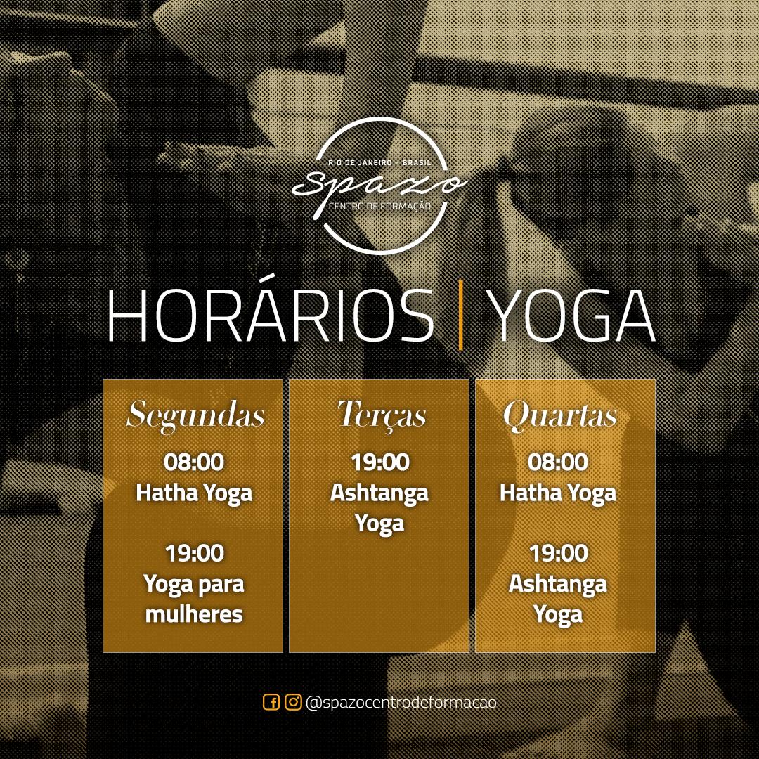 Horários Yoga 2020